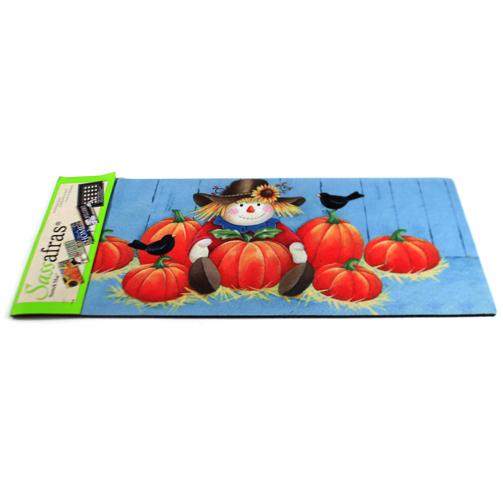 Pumpkins And Scarecrow Mat 431732 Home & Garden Door Mats - SBKGIFTS.COM - SBK Gifts Christmas Shop Cincinnati - Story Book Kids
