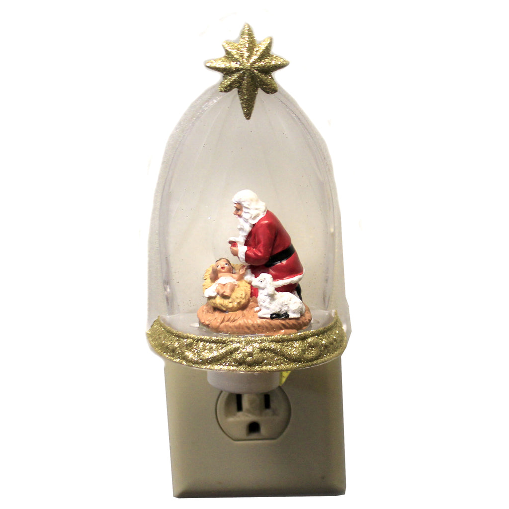 Kneeling Santa Night Light 164099 Christmas Night Lights - SBKGIFTS.COM - SBK Gifts Christmas Shop Cincinnati - Story Book Kids