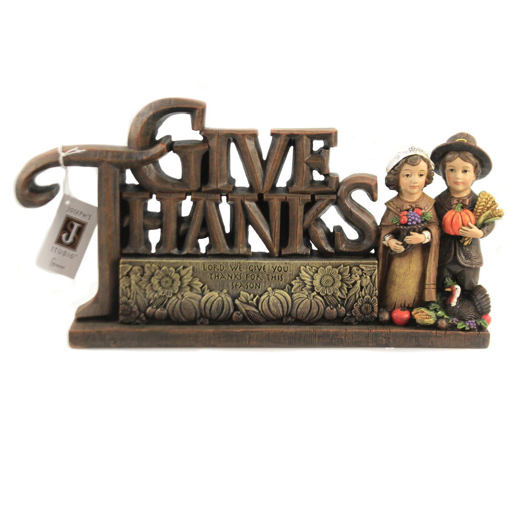 Give Thanks Figurine 132449 Thanksgiving Figurines - SBKGIFTS.COM - SBK Gifts Christmas Shop Cincinnati - Story Book Kids