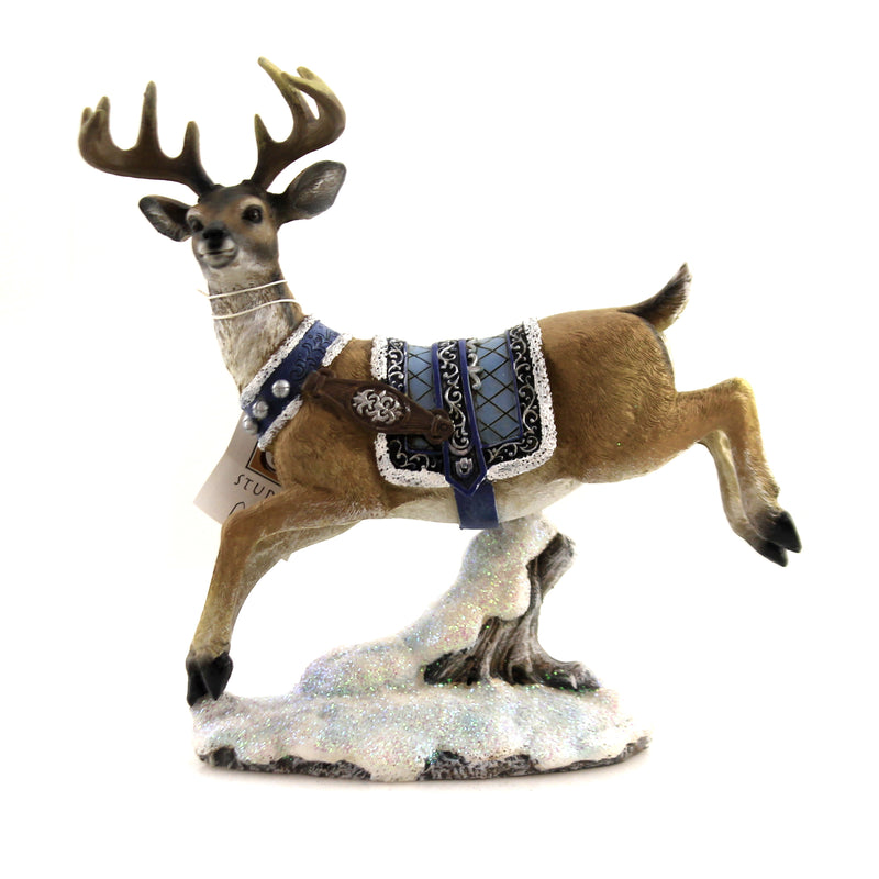 Deer With Blue Harness 633200 Christmas Figurines - SBKGIFTS.COM - SBK Gifts Christmas Shop Cincinnati - Story Book Kids
