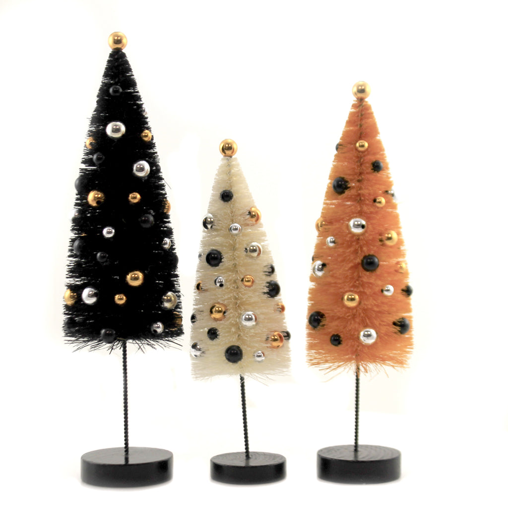Halloween Confetti Trees Set/3 Lc9602 Halloween Bottle Brush Trees And Feather Trees And Tinsel Trees And Decorative Trees - SBKGIFTS.COM - SBK Gifts Christmas Shop Cincinnati - Story Book Kids