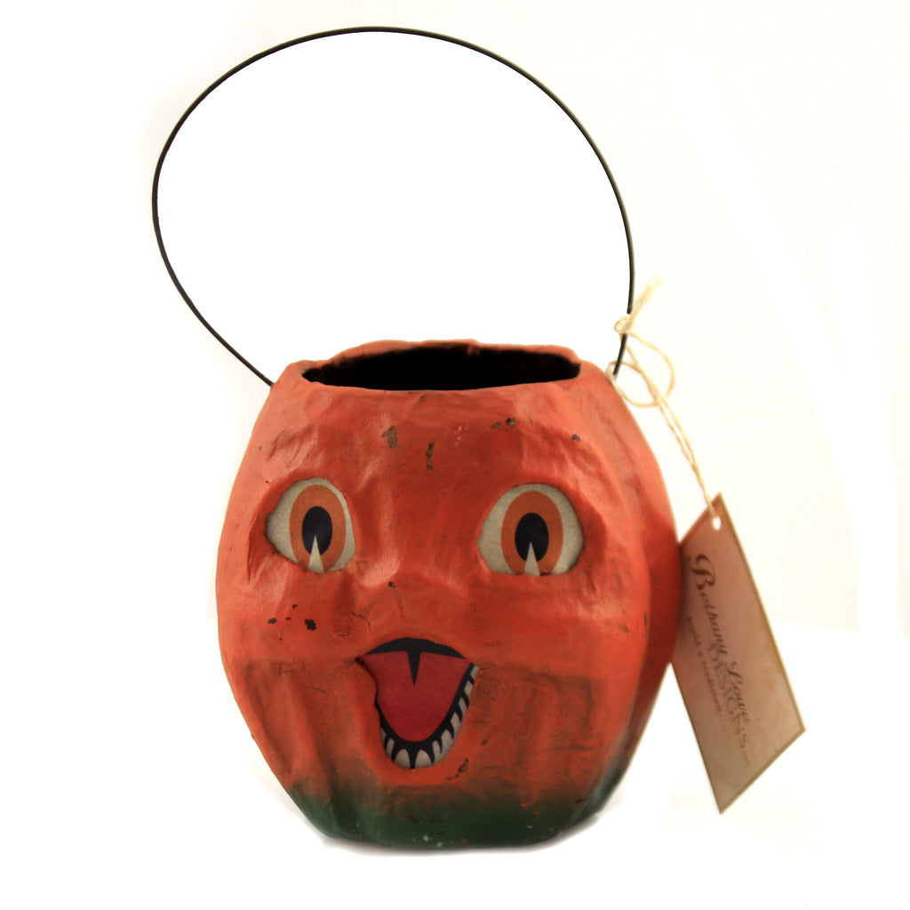 "4.50"" Vintage Pumpkin Bucket Tj2413 Halloween Home Decor - SBKGIFTS.COM - SBK Gifts Christmas Shop Cincinnati - Story Book Kids"