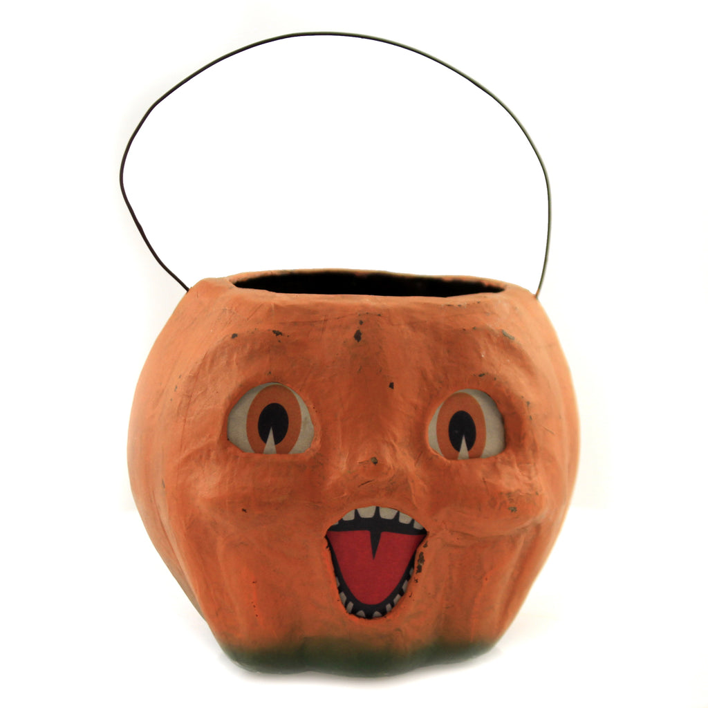 Happy Vintage Pumpkin Bucket Tj2411 Halloween Home Decor - SBKGIFTS.COM - SBK Gifts Christmas Shop Cincinnati - Story Book Kids
