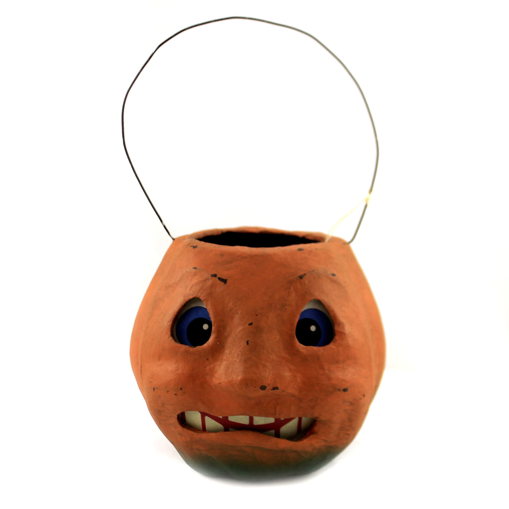 Scary Vintage Pumpkin Bucket Tj2412 Halloween Home Decor - SBKGIFTS.COM - SBK Gifts Christmas Shop Cincinnati - Story Book Kids