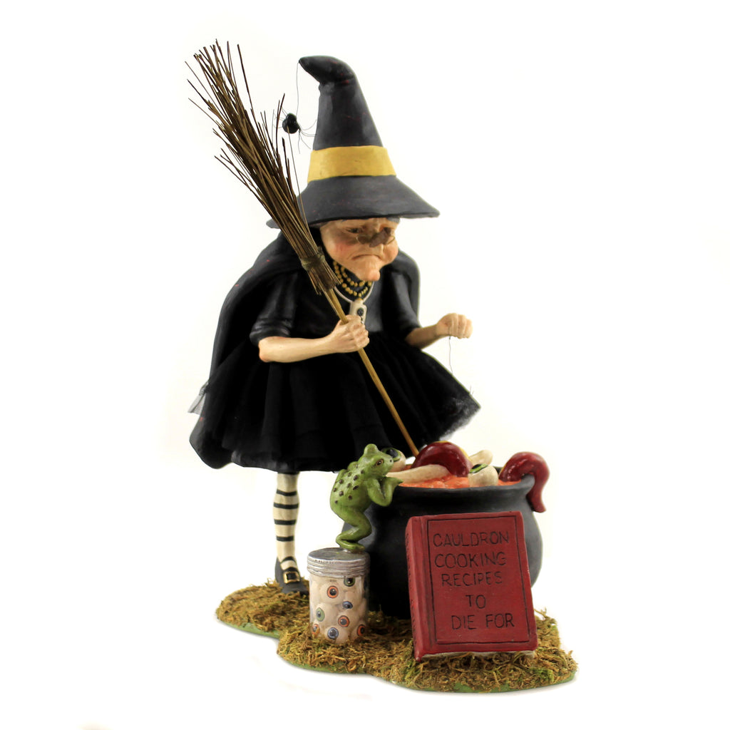 Cauldron Cooking Witch Td9065 Halloween Figurines - SBKGIFTS.COM - SBK Gifts Christmas Shop Cincinnati - Story Book Kids