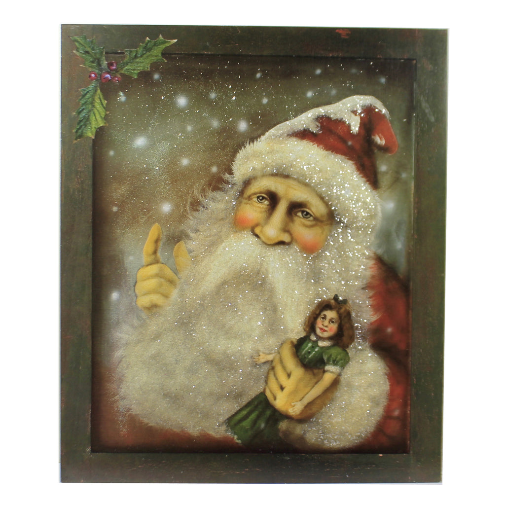 Portrait Santa Bb8834 Christmas Home Decor - SBKGIFTS.COM - SBK Gifts Christmas Shop Cincinnati - Story Book Kids