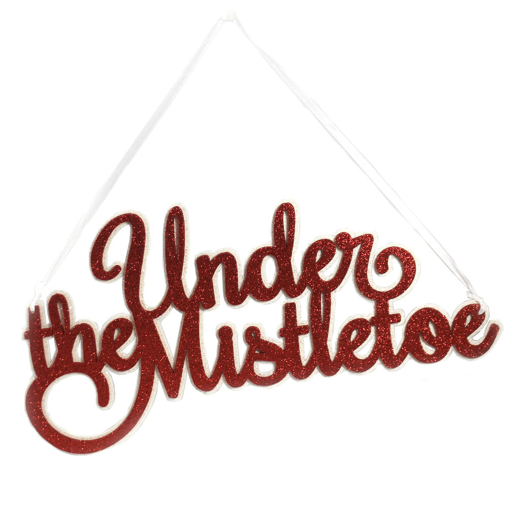 Under The Mistletoe Sign Rl9790 Christmas Signs And Plaques - SBKGIFTS.COM - SBK Gifts Christmas Shop Cincinnati - Story Book Kids