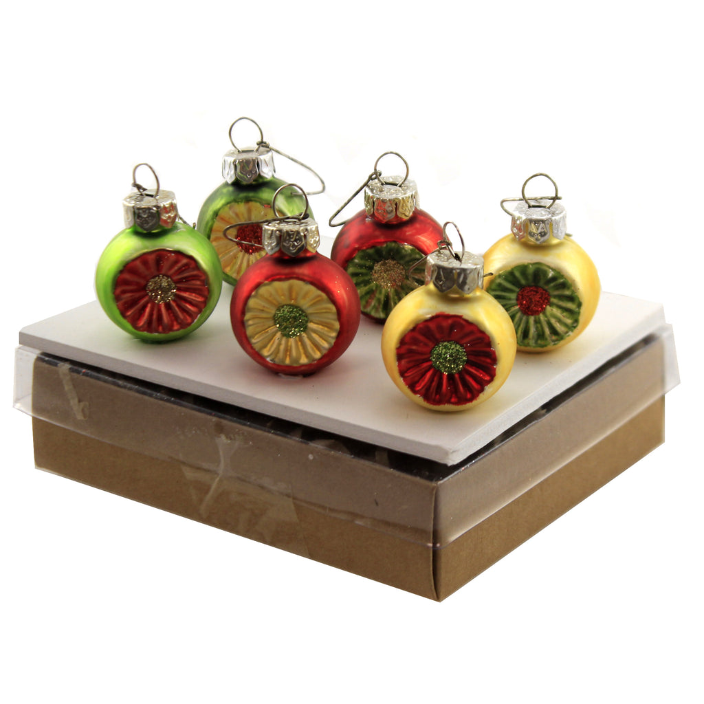 Traditional Mini Reflectors S/6 Lc9553 Christmas Glass Ornaments - SBKGIFTS.COM - SBK Gifts Christmas Shop Cincinnati - Story Book Kids