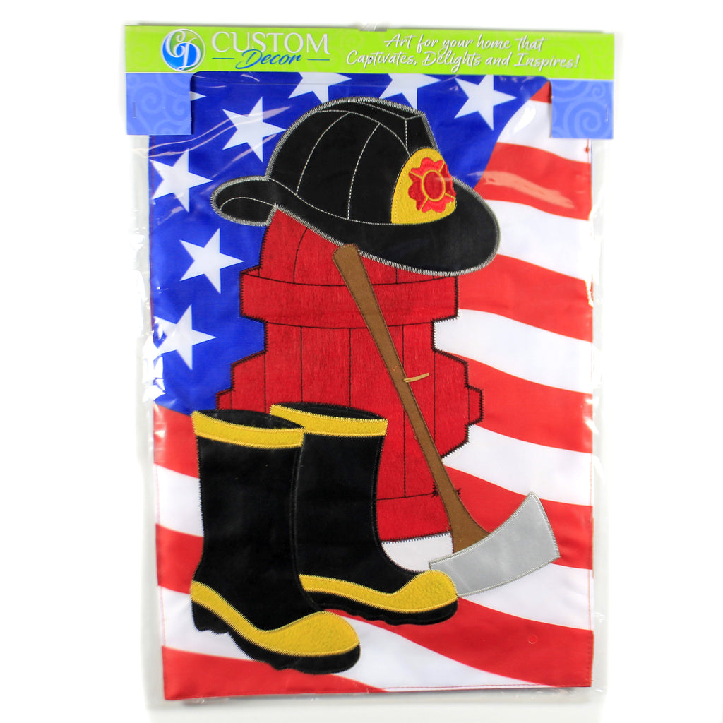 Applique Firefighter Garden Fla 4344Fm Home & Garden Other Garden Decor - SBKGIFTS.COM - SBK Gifts Christmas Shop Cincinnati - Story Book Kids