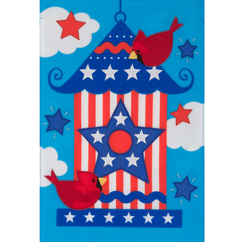 Applique Patriotic Birdhose Fla 4076Fm Home & Garden Other Garden Decor - SBKGIFTS.COM - SBK Gifts Christmas Shop Cincinnati - Story Book Kids