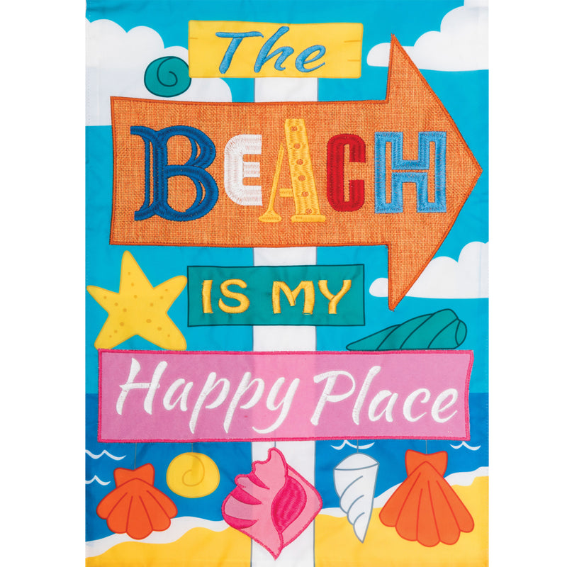 Beach Happly Place Garden Flag 3738Fm Home & Garden Other Garden Decor - SBKGIFTS.COM - SBK Gifts Christmas Shop Cincinnati - Story Book Kids