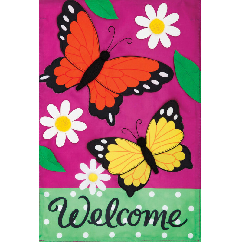 Butterflies Daisies Flag 4312Fm Home & Garden Other Garden Decor - SBKGIFTS.COM - SBK Gifts Christmas Shop Cincinnati - Story Book Kids