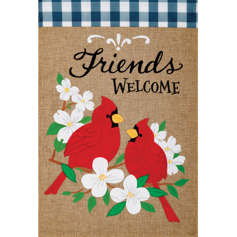 Burlap Cardinal Friends Flag 4321Fm Home & Garden Other Garden Decor - SBKGIFTS.COM - SBK Gifts Christmas Shop Cincinnati - Story Book Kids