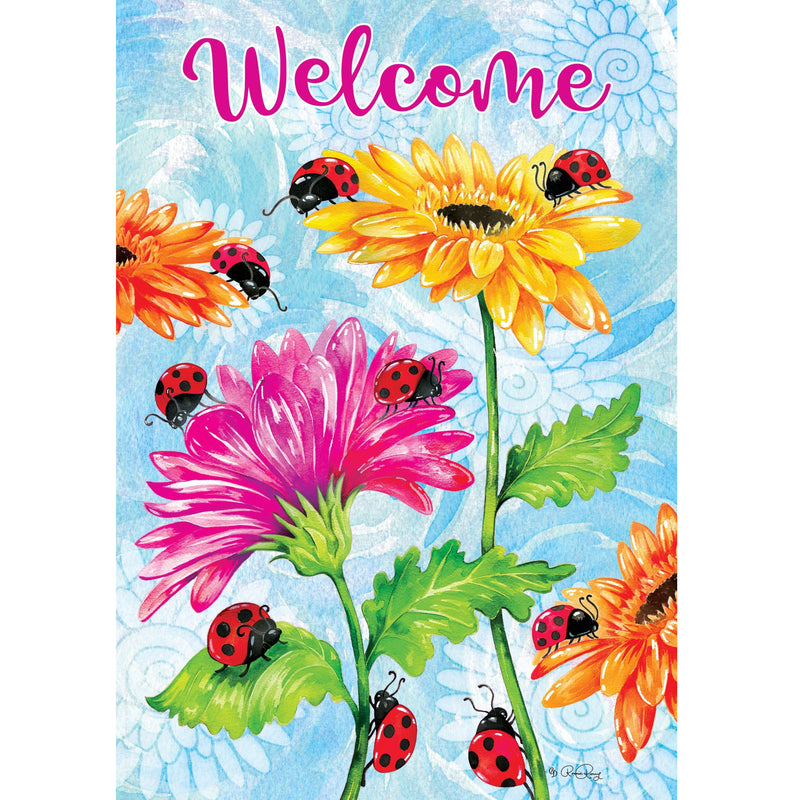 Ladybugs & Flowers Garden Flag 4309Fm Home & Garden Other Garden Decor - SBKGIFTS.COM - SBK Gifts Christmas Shop Cincinnati - Story Book Kids