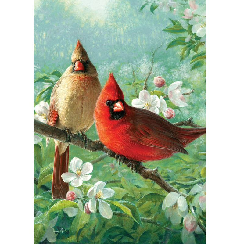 Cardinal Blossoms Garden Flag 4267Fm Home & Garden Other Garden Decor - SBKGIFTS.COM - SBK Gifts Christmas Shop Cincinnati - Story Book Kids