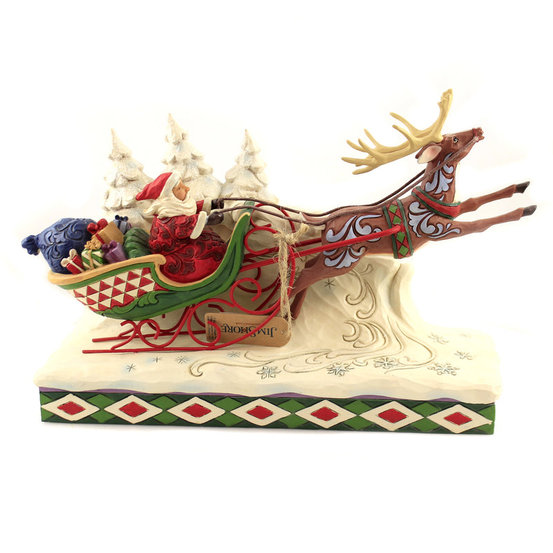 Here Comes Santa! 6006635 Jim Shore Figurines - SBKGIFTS.COM - SBK Gifts Christmas Shop Cincinnati - Story Book Kids