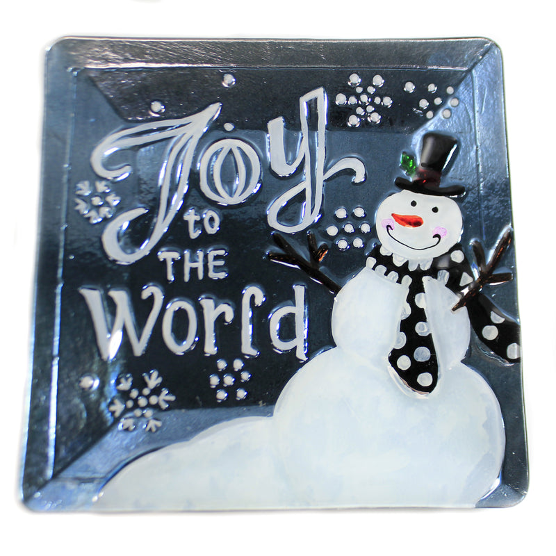 Joy  Grey/Blue Platter Xm1024 Tabletop Plates And Platters - SBKGIFTS.COM - SBK Gifts Christmas Shop Cincinnati - Story Book Kids