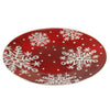 Red Snowflakes Platter Xm1020 Tabletop Plates And Platters - SBKGIFTS.COM - SBK Gifts Christmas Shop Cincinnati - Story Book Kids