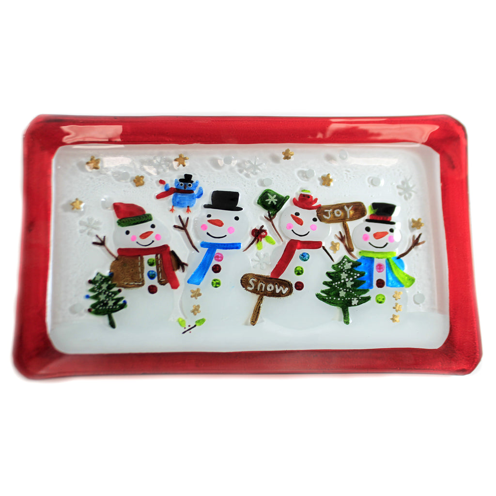 Snowmen Family Platter Xm1142 Tabletop Plates And Platters - SBKGIFTS.COM - SBK Gifts Christmas Shop Cincinnati - Story Book Kids
