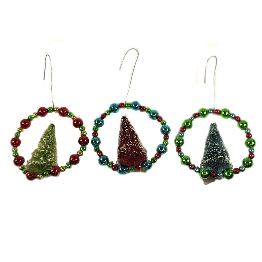 Beaded Wreath With Tree Lc8380 Holiday Ornament Plastic Ornaments - SBKGIFTS.COM - SBK Gifts Christmas Shop Cincinnati - Story Book Kids