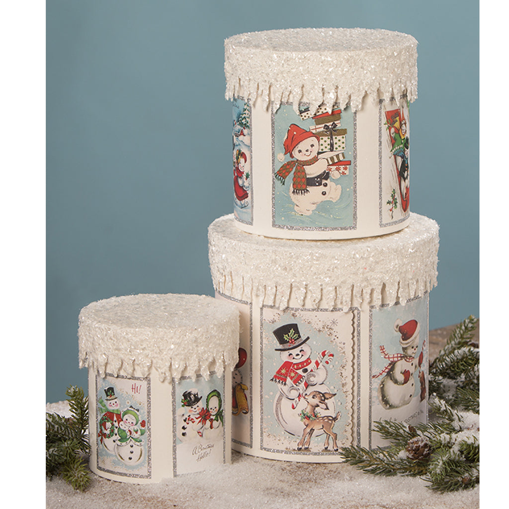 Frosty Snowman Boxes Tl9416 Christmas Home Decor - SBKGIFTS.COM - SBK Gifts Christmas Shop Cincinnati - Story Book Kids