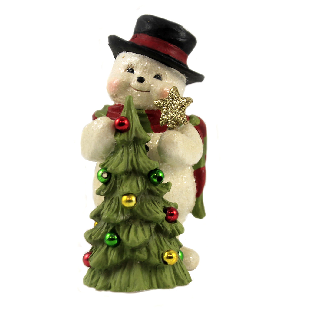 Trimming The Tree Snowman Td9080 Christmas Figurines - SBKGIFTS.COM - SBK Gifts Christmas Shop Cincinnati - Story Book Kids