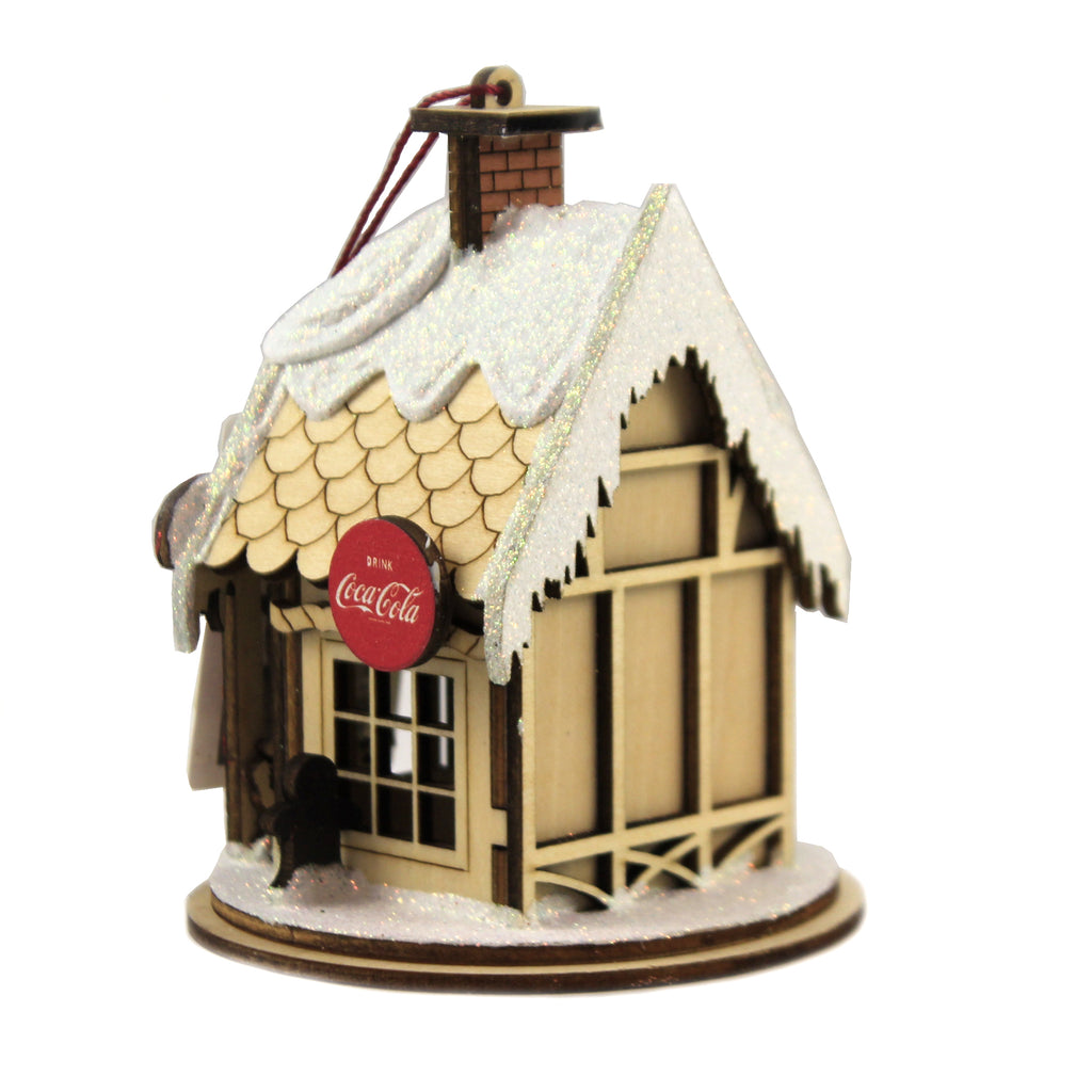 Santa's Workshop Cottage 84002 Ginger Cottages Wood Ornaments - SBKGIFTS.COM - SBK Gifts Christmas Shop Cincinnati - Story Book Kids