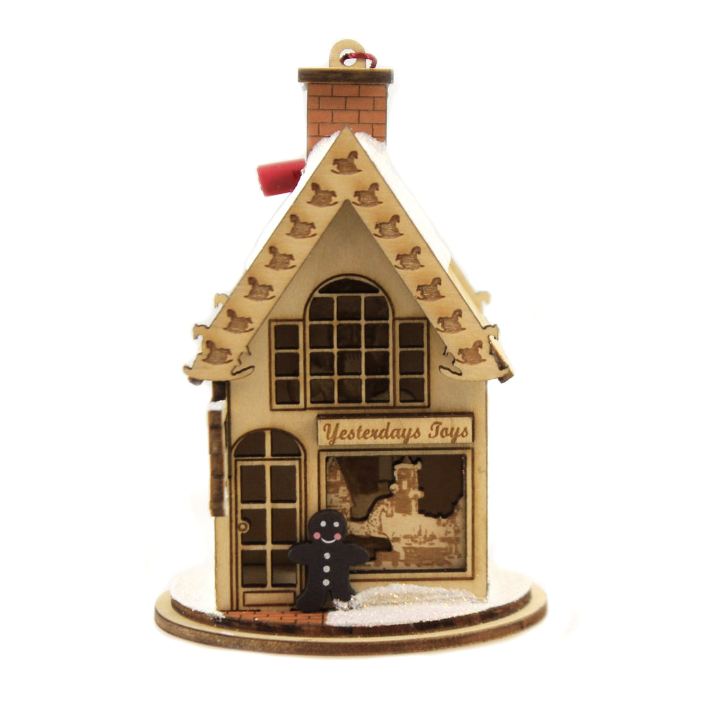Yesterday's Toys 80004 Ginger Cottages Wood Ornaments - SBKGIFTS.COM - SBK Gifts Christmas Shop Cincinnati - Story Book Kids
