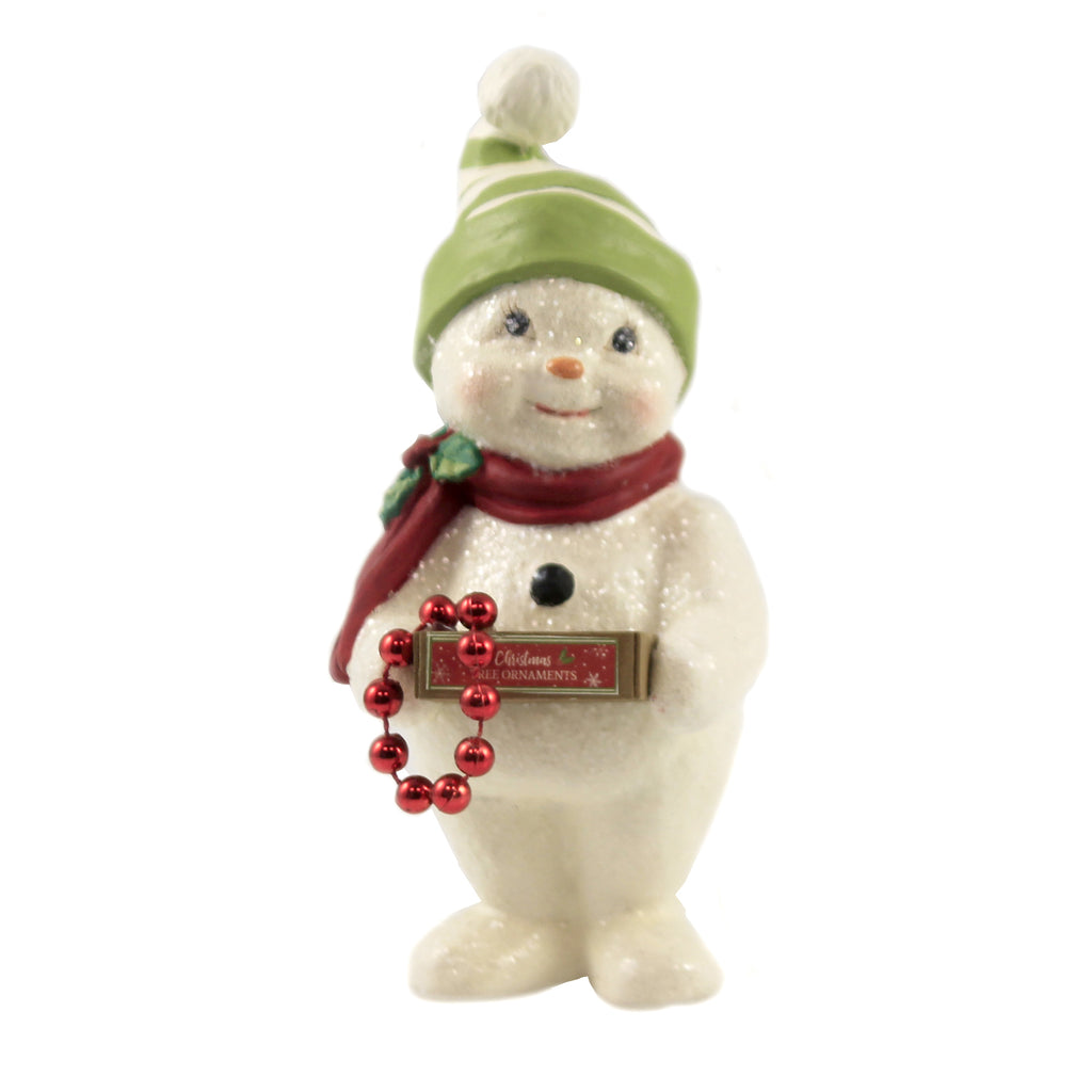 Deck The Halls Snowman. Td9079 Christmas Figurines - SBKGIFTS.COM - SBK Gifts Christmas Shop Cincinnati - Story Book Kids