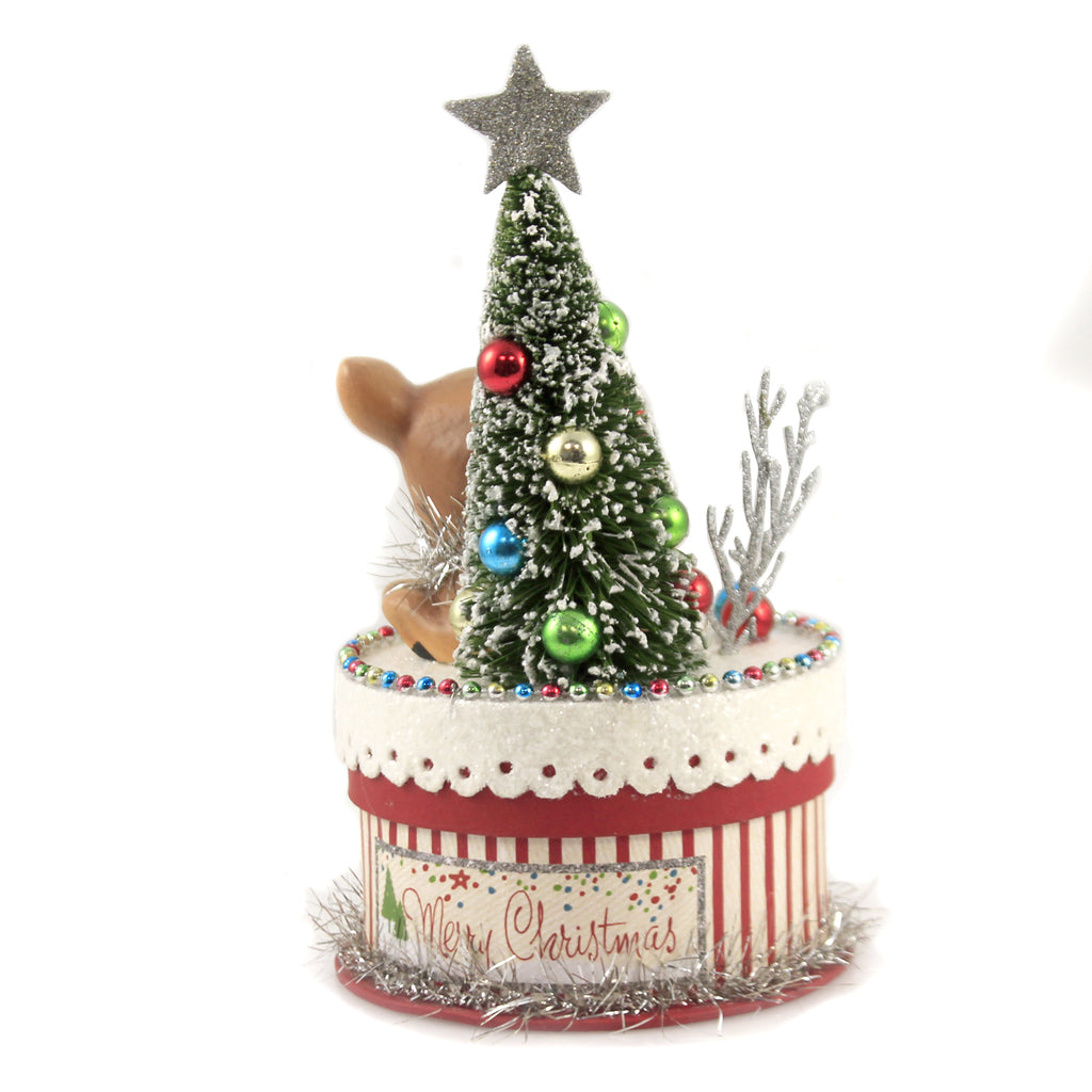 Merry And Bright Deer On Box Tl9415 Christmas Figurines - SBKGIFTS.COM - SBK Gifts Christmas Shop Cincinnati - Story Book Kids