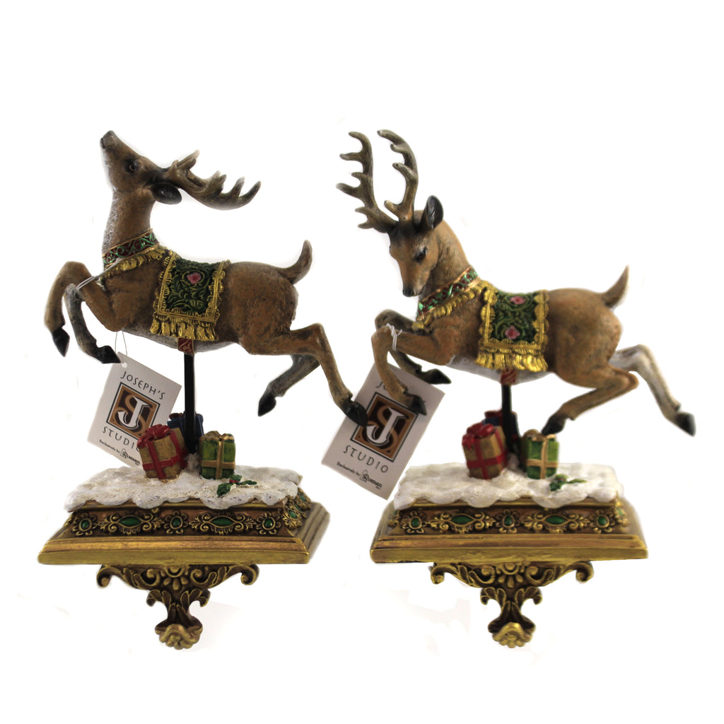 Deer Stocking Holders 37960 Christmas Stockings And Stocking Holders - SBKGIFTS.COM - SBK Gifts Christmas Shop Cincinnati - Story Book Kids