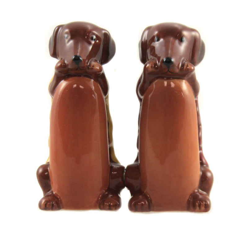 Hot Dogs 9477 Tabletop Salt And Pepper Shakers - SBKGIFTS.COM - SBK Gifts Christmas Shop Cincinnati - Story Book Kids