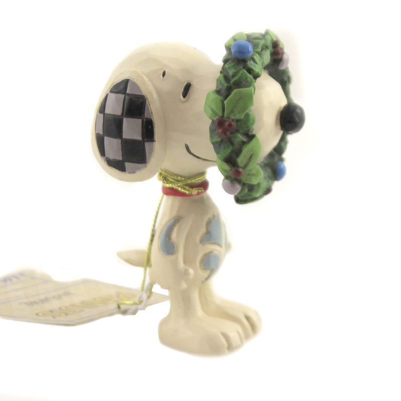 Snoopy In Wreath 6006941 Jim Shore Figurines - SBKGIFTS.COM - SBK Gifts Christmas Shop Cincinnati - Story Book Kids