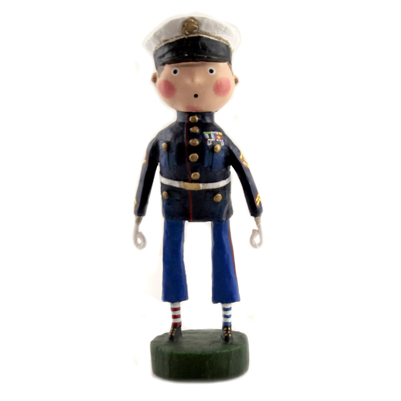 Lil' Marine 12263. Lori Mitchell Figurines - SBKGIFTS.COM - SBK Gifts Christmas Shop Cincinnati - Story Book Kids