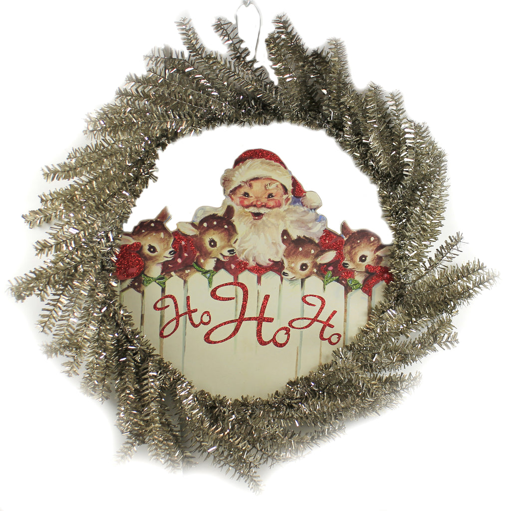 Ho Ho Ho Wreath 105054 Christmas Wreaths - SBKGIFTS.COM - SBK Gifts Christmas Shop Cincinnati - Story Book Kids