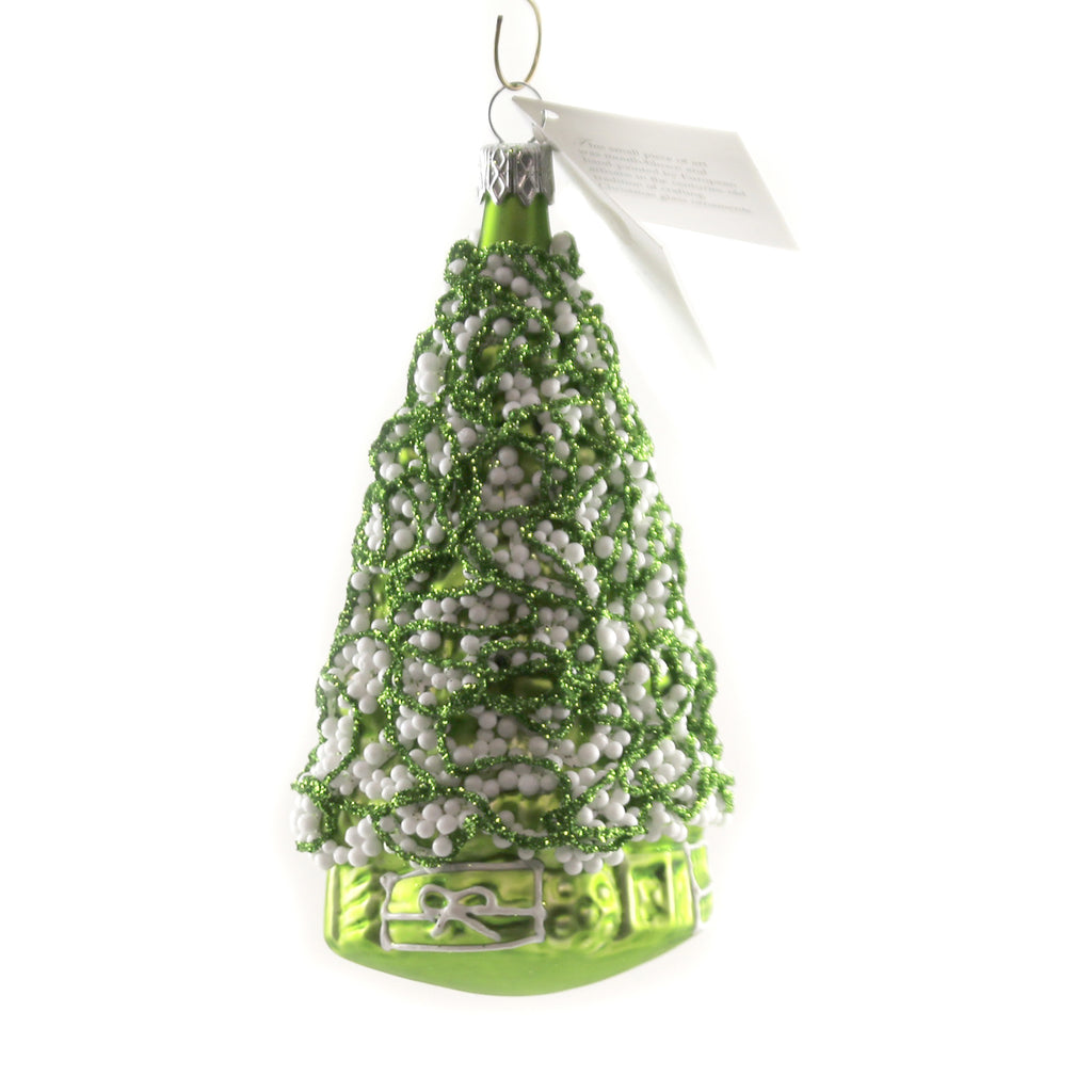 Lime Green Tree W/ White Balls Nva035 Golden Bell Collection Glass Ornaments - SBKGIFTS.COM - SBK Gifts Christmas Shop Cincinnati - Story Book Kids
