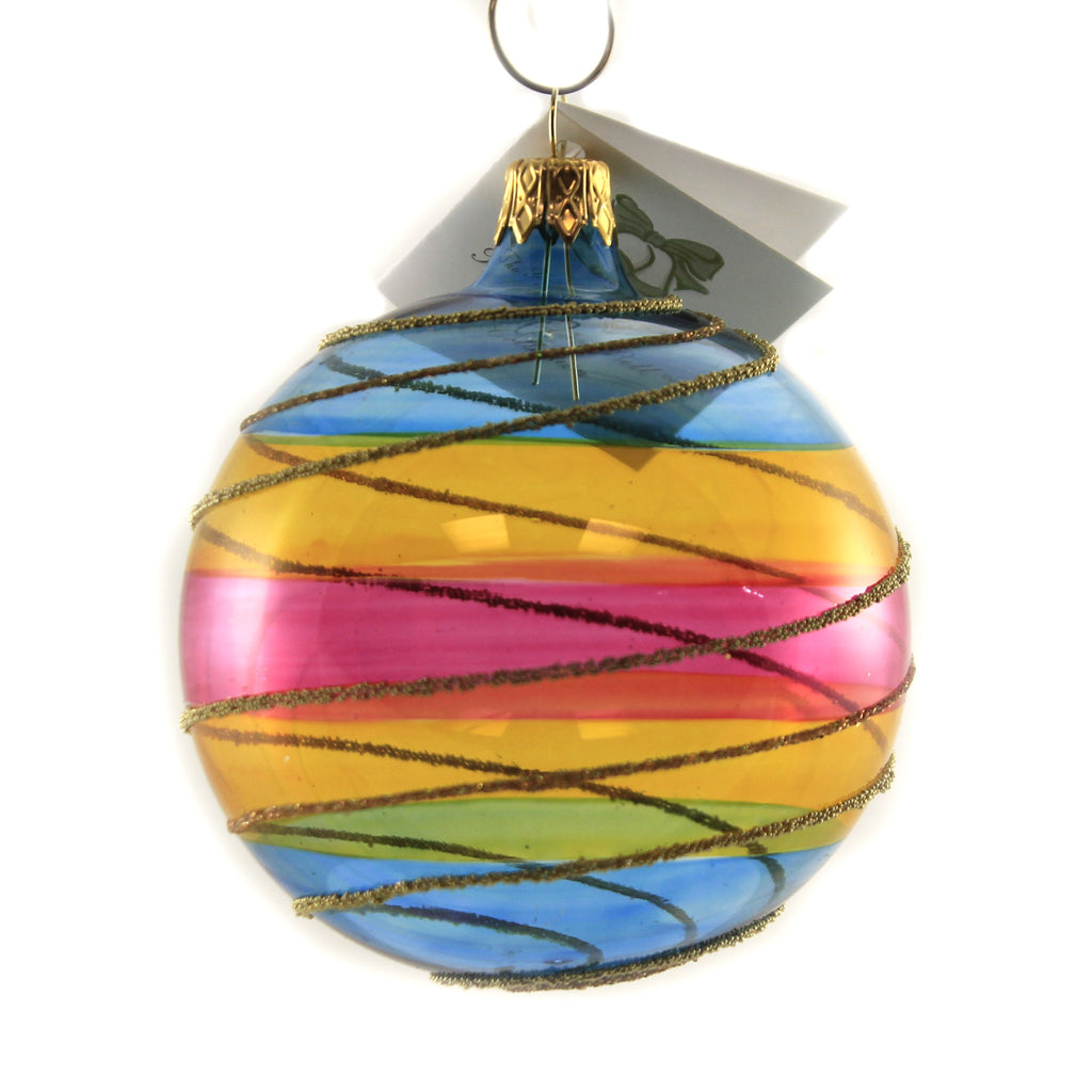 Colorful Translucent Ball Bma241 Golden Bell Collection Glass Ornaments - SBKGIFTS.COM - SBK Gifts Christmas Shop Cincinnati - Story Book Kids