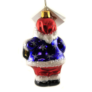 Patriotic Santa Ornament St285 Golden Bell Collection Glass Ornaments - SBKGIFTS.COM - SBK Gifts Christmas Shop Cincinnati - Story Book Kids