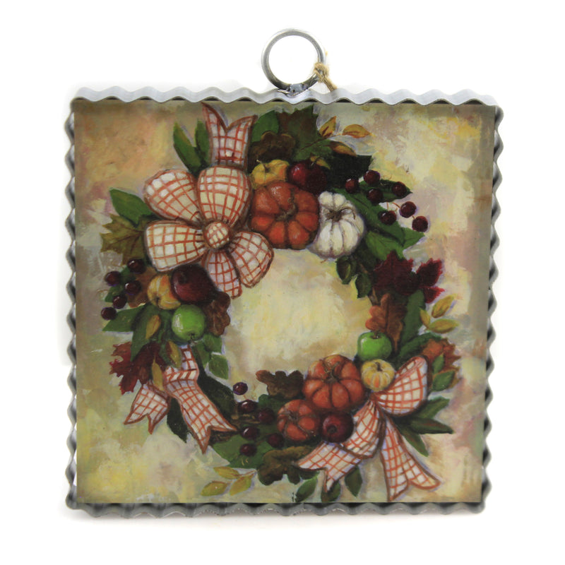 Mini Harvest Wreath Print F20092 Thanksgiving Signs And Plaques - SBKGIFTS.COM - SBK Gifts Christmas Shop Cincinnati - Story Book Kids