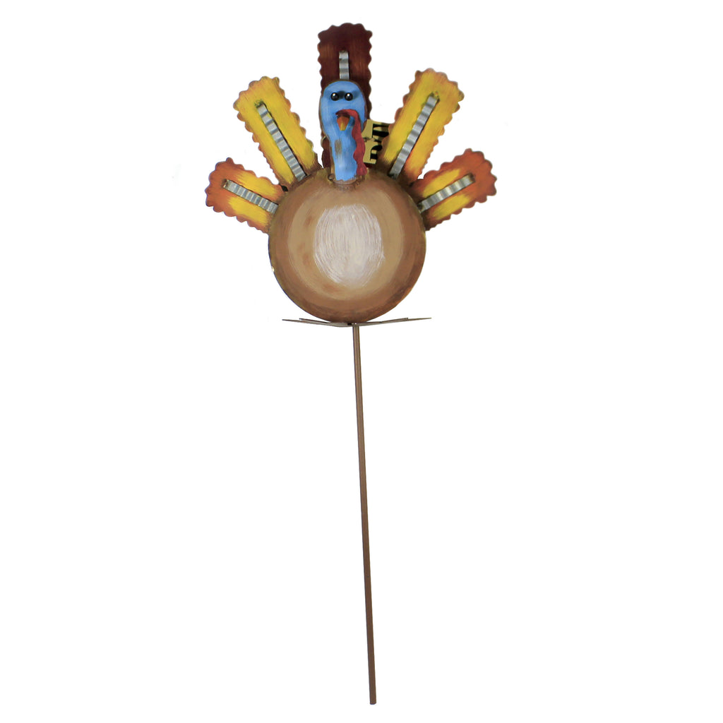 Turkey Of Many Colors F19094 Thanksgiving Decorative Stakes And Pokes And Plant Sticks - SBKGIFTS.COM - SBK Gifts Christmas Shop Cincinnati - Story Book Kids