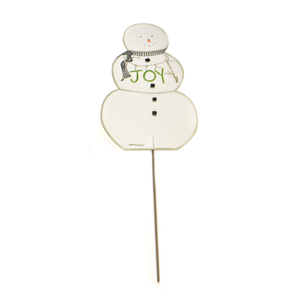 2 Sided Pumpkin Snowman Topiary Y17165 Home & Garden Decorative Stakes And Pokes And Plant Sticks - SBKGIFTS.COM - SBK Gifts Christmas Shop Cincinnati - Story Book Kids