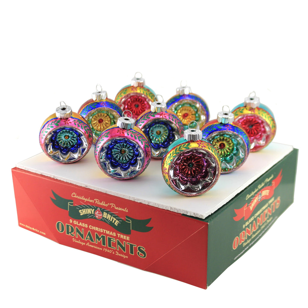 CC Reflector Rounds 4027748. Shiny Brite Glass Ornaments - SBKGIFTS.COM - SBK Gifts Christmas Shop Cincinnati - Story Book Kids