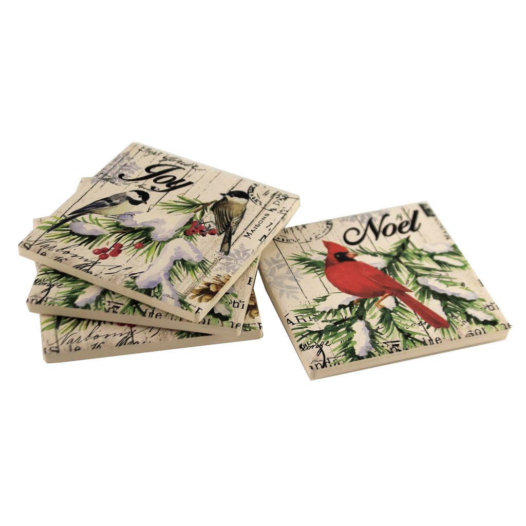Noel Coasters 66177 Tabletop Coasters - SBKGIFTS.COM - SBK Gifts Christmas Shop Cincinnati - Story Book Kids