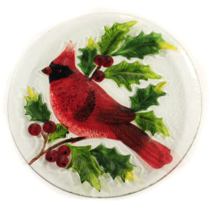 Round Cardinal Platter Ex27167 Tabletop Plates And Platters - SBKGIFTS.COM - SBK Gifts Christmas Shop Cincinnati - Story Book Kids