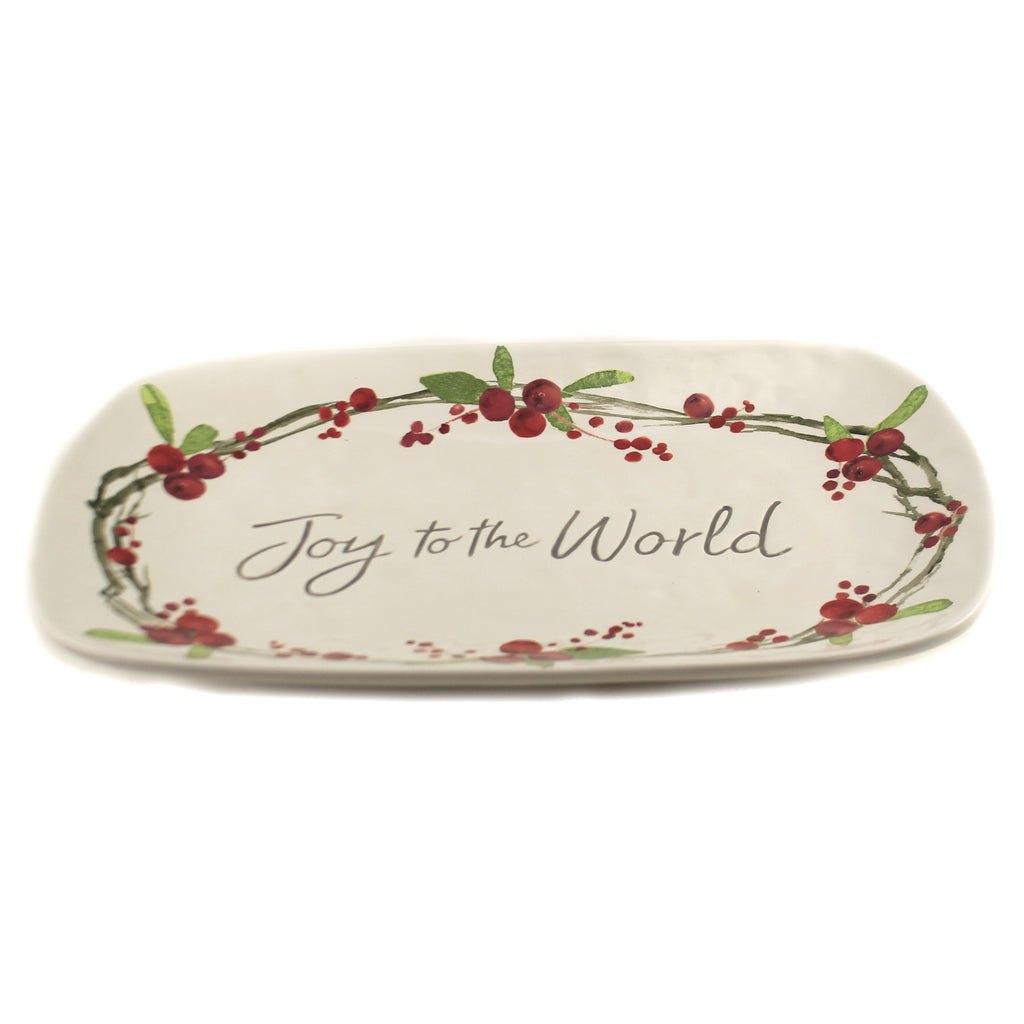 Joy To The World Platter 1938126 Tabletop Plates And Platters - SBKGIFTS.COM - SBK Gifts Christmas Shop Cincinnati - Story Book Kids