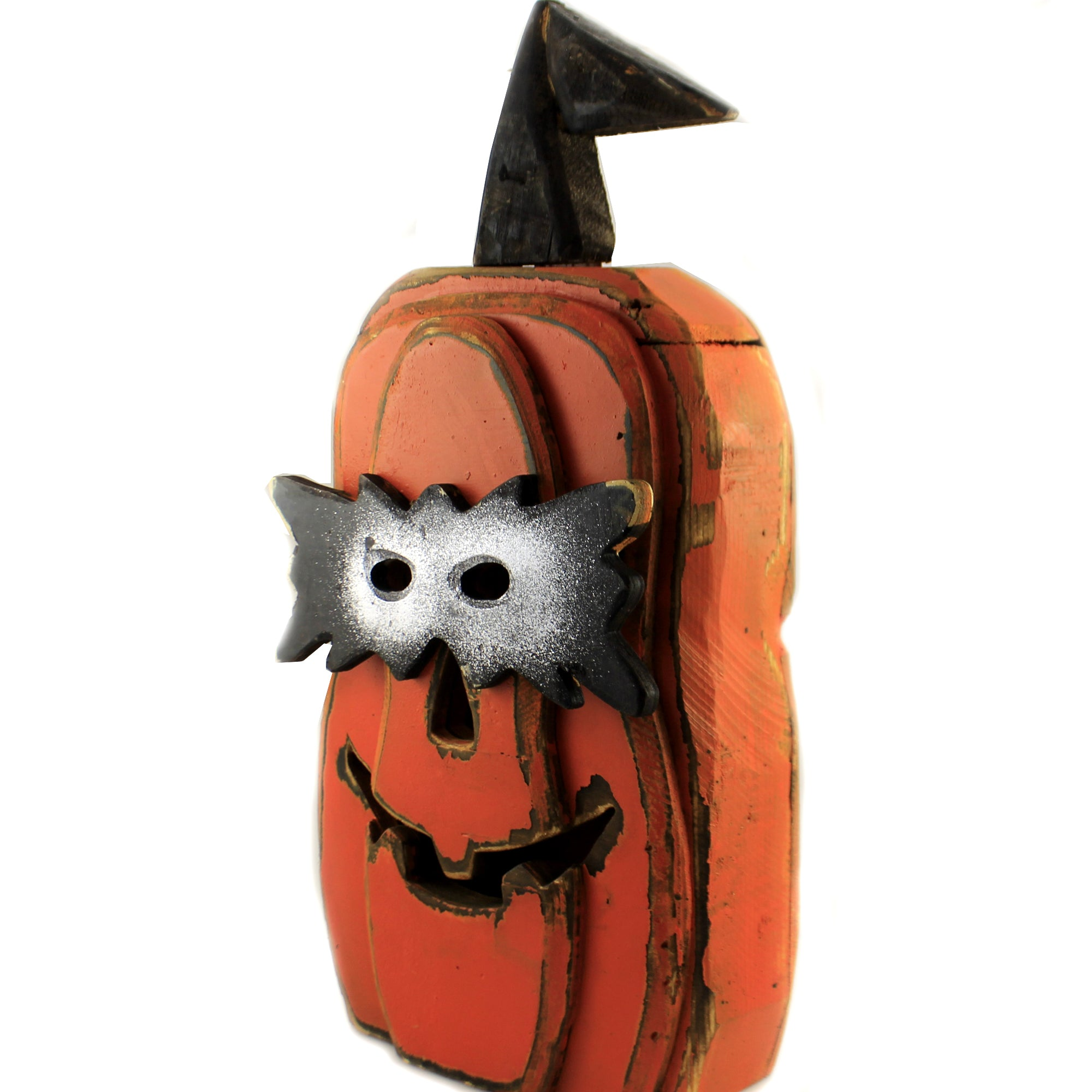 Halloween Cut Out Face Wooden Pumpkin Hh3666 Collectible Figurines Sbk Gifts Sbkgifts Com