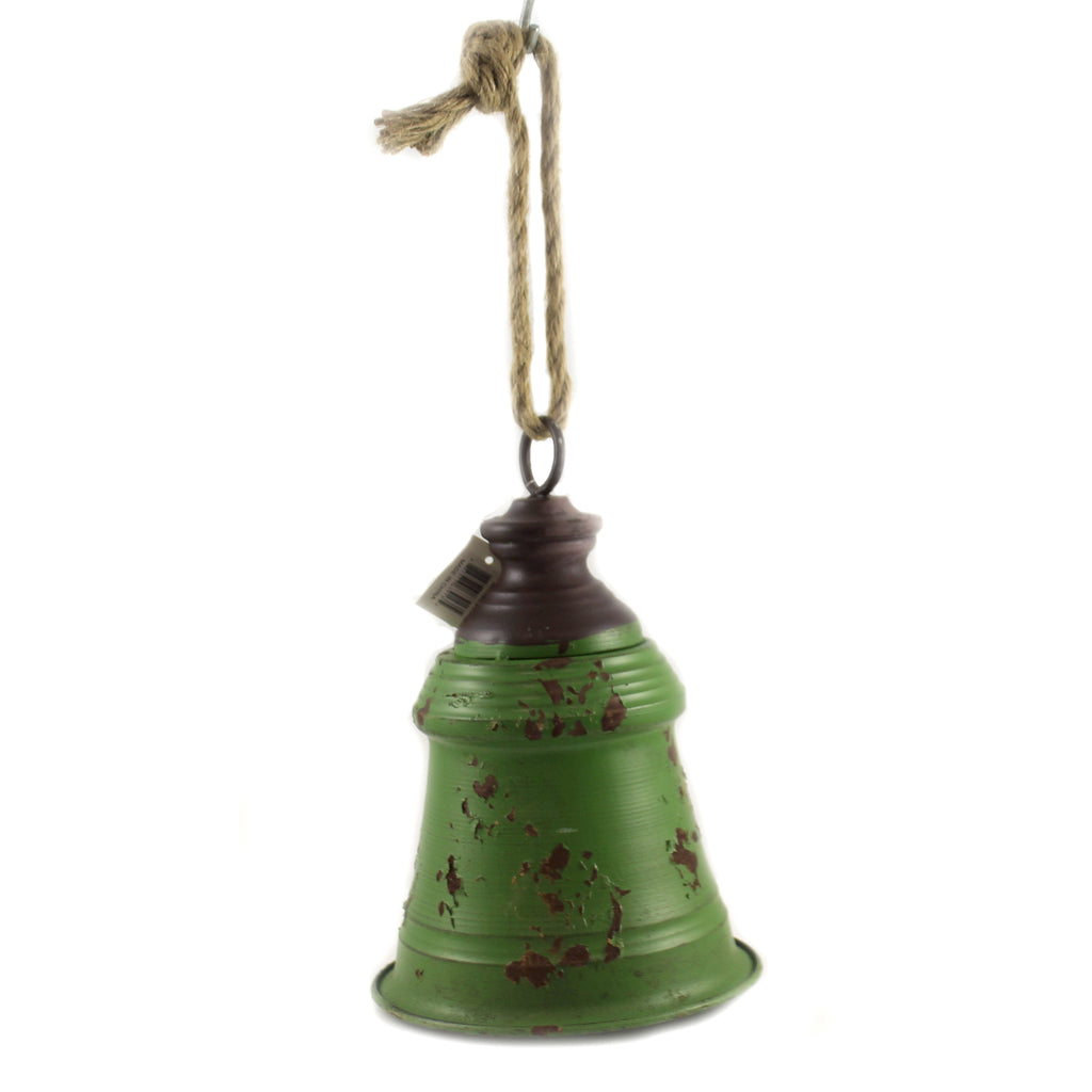 9.50  Inch Green Metal Bell Xc423340 Home Decor Wall Decor And Hanging Decor - SBKGIFTS.COM - SBK Gifts Christmas Shop Cincinnati - Story Book Kids