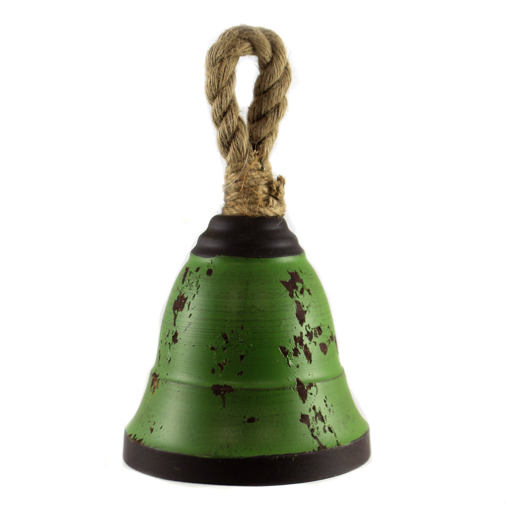 12.00 Inch Green Metal Bell Ke129940 Home Decor Wall Decor And Hanging Decor - SBKGIFTS.COM - SBK Gifts Christmas Shop Cincinnati - Story Book Kids