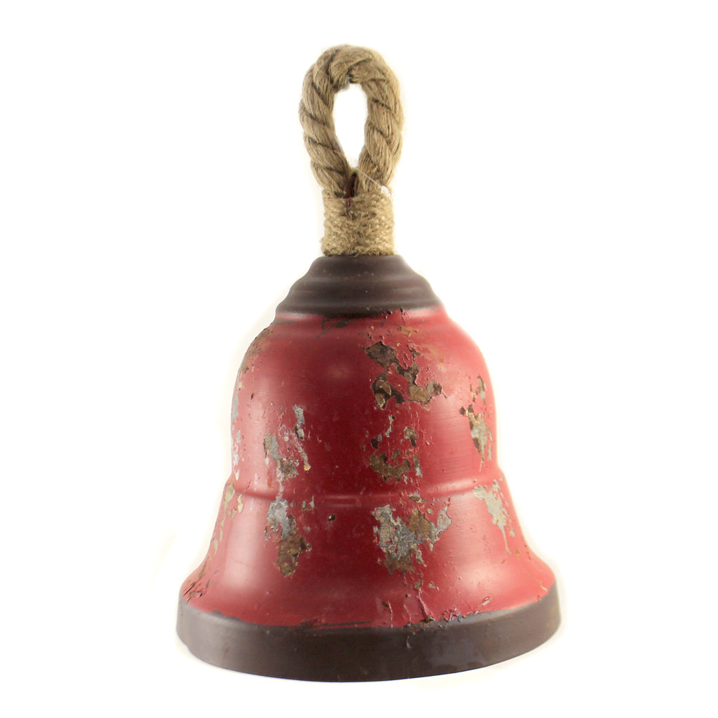 13.00 Inch Red Metal Bell Ke130039 Home Decor Wall Decor And Hanging Decor - SBKGIFTS.COM - SBK Gifts Christmas Shop Cincinnati - Story Book Kids