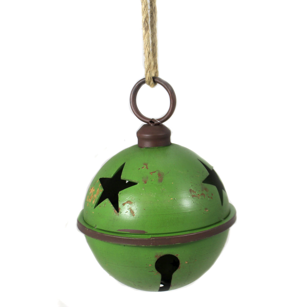 Large Green Jingle Bell W/ Jute Xc422240 Home Decor Wall Decor And Hanging Decor - SBKGIFTS.COM - SBK Gifts Christmas Shop Cincinnati - Story Book Kids